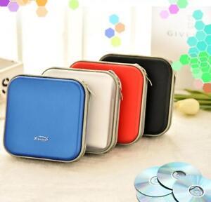 40 Disc CD DVD Storage Wallet Organizer Bag Case Rack Portable Plastic 5 Colors