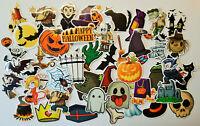 50er Halloween Sticker Set Aufkleber Stickerbomb Kinder Walpurgis Walburgis