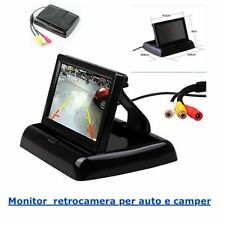 """Monitor 4.3"""" TFT LCD a colori per retrocamera Auto e Camper a scomparsa"""
