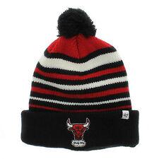 NBA Chicago Bulls Incline Cuff Pom Knit Beanie Hat Men's One Size Basketball NEW
