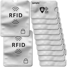 Mangas de Bloqueo de RFID 12 un. tarjeta de crédito de débito bancarias sin contacto titulares de pasaportes