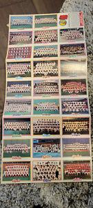1978 TOPPS TEAM CARD CHECKLIST UNCUT SHEET OF 26 YANKEES DODGERS PHILLIES CUBS