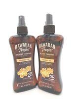 Hawaiian Tropic Island Tanning w/ Coconut Oil Dry Oil SPF 25 - 8 oz EA Lot of 2