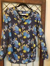 Equipment Femme Silk Floral Button Down Blouse Shirt Top Sz S