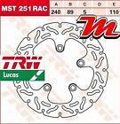 Disco del freno Posteriore TRW Lucas STD 251 RAC per Suzuki RF 900 R GT73B 94-97