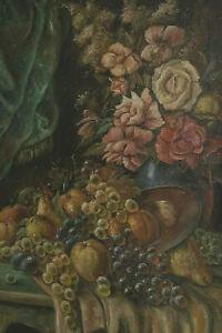 Josef SCHWICKART ? - Stillleben mit Trauben Früchten und Blumen