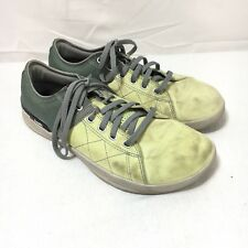 14ee6541675334 Reebok Crossfit 010 Womens 7.5 Green Suede Training Running Shoes Sneakers