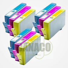 9 CLR Ink 564XL replacement for HP 564XL Colors *NEW* With CHIP-Shows Ink Level