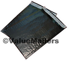 100 #0 ( BLACK ) Poly Bubble Mailers Envelopes Bags 6x10 Extra Wide CD DVD 6x9