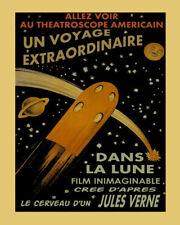 171912 Jules Verne Rocket Ship Space Movie Universe Decor LAMINATED POSTER FR