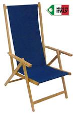 Sedia sdraio pieghevole prendisole in legno di faggio chiaro naturale in tela B