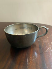 Cunard White Star Line Cup / Mug - Elkington Plate - 23784 - Old And Well Used