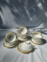 Minton 11pc Cream Soup Bowls & Saucers