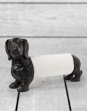 Dachshund Sausage Dog Kitchen Paper Towel Holder Figure Animal Sculpture Statue