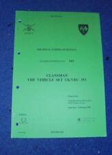 UK/VRC 353.Radio station.User handbook. VHF Clansman vehicle Radio set (1)