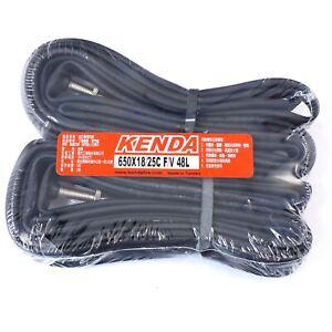 KENDA 650x18/25C F/V 48L Presta/French Road Bike Inner Tubes - 2 pcs