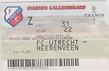 Sammler Used Ticket / Entrada FC Utrecht v SC Heerenveen 12-03-2006