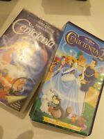 VHS LOTE DE 2 LA CENICIENTA 1 Y 2  DISNEY  (coleccionistas)