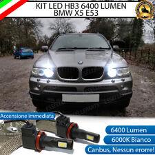 KIT FULL LED BMW X5 E53 LAMPADE ABBAGLIANTI LED HB3 6000K NO ERRORE