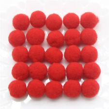 60 pom pom 15 mm ponpon rossi SCRAPBOOKING DECORAZIONI applicazioni BOMBONIERE