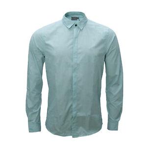 Calvin Klein Jeans Men's Shirt,Long Sleeve, Green, Fine Checked, Regular Fit