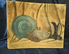 Mid Century Still Life Oil  painting   1940's Letty Mellen New York