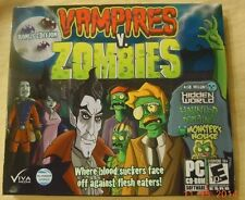 VAMPIRES VS ZOMBIES BONUS EDITION: PC 7/VISTA/XP GAME + 3 BONUS GAMES BRAND NEW