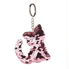 Cute Sequin Cat Reflect Keyring Keychain Car Key Bag Hanging Drop Accessory Gift