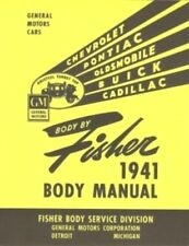1941-1942 Chevrolet, Pontiac,Oldsmobile, Buick & Cadillac Gm Fisher Body Manual