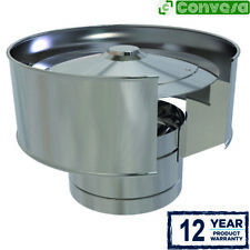 Convesa 5 inch Anti Wind Cowl Stainless Steel Twin Wall Flue Stove Pipe 125mm