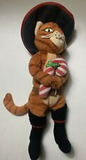 """PUSS IN BOOTS 2008 TY Beanie Babies Shrek The Halls Christmas Candy Cane 8"""""""
