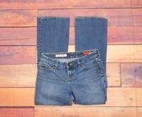"""Express X2 Women's Slim W10 Low Rise Boot Cut Short Jeans Sz 2 (27"""" W x 28"""" L)"""