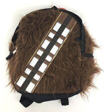 "Disney Star Wars Chewbacca 12"" Kids School Play Toy Travel Book Bag Backpack New"