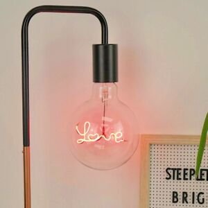 Love LED Filament Bulb - retro, large, romantic, lighting, lightbulb, red