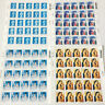 1st & 2nd Class Unfranked Stamps off PaperWITH ORIGINAL Self-Adhesive GUM