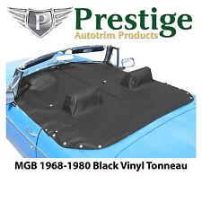MGB Tonneau Cover Black Vinyl with Headrest Pockets 1968-1980