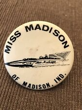 1964 Madison Unlimited Hydroplane Pin button Seattle Seafair