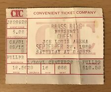 1980 Queen The Game Tour Detroit Concert Ticket Stub Freddie Mercury Brian May 8