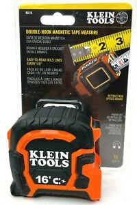 """KLEIN TOOLS Double Hook 16"""" Magnetic Tape Measure 86216"""