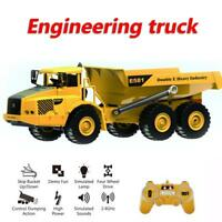 2.4Ghz Channel RC Remote Control Dump Truck Full Function Toy for Kids Boys