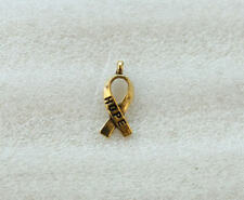 140PCS Antiqued Gold Cancer Awareness HOPE Ribbon Charms  A5104G