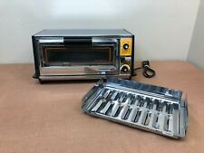 Vintage General Electric GE Toast 'n Broil Toaster Oven Retro Chrome & Grain