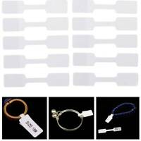 100pcs Blank Jewelry Display Tags Necklace Ring Hang Size Price Label Tags