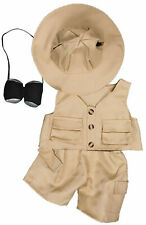 "Safari Outfit Teddy Bear Clothes Fits Most 8""-10"" Build-A-Bear Buddies and Make"