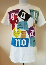 JOHN GALLIANO Gazette print T-shirt Size Large Made In Italy