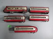 Vintage   MARX 5 PIECES M10000 ELECTRIC RED SILVER STREAMLINER UNION PACIFIC