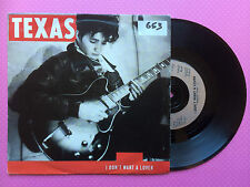 Texas - I Don't Want A Lover / Believe Me, Mercury TEX-1 Ex/Ex Condition 1989