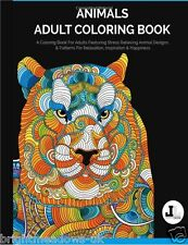 Animals Wildlife Nature Dog Cat Adult Colouring Book Creative Art Therapy Relax