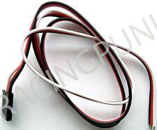 600mm 60cm RC Ricevitore micro standard Servo Lead Wire Futaba Connettore Spina Maschio