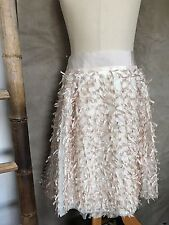 MONKEY WEAR Neiman Marcus RIBBON BOWS TULLE Party SKIRT Ivory Blush Pink Girl 14